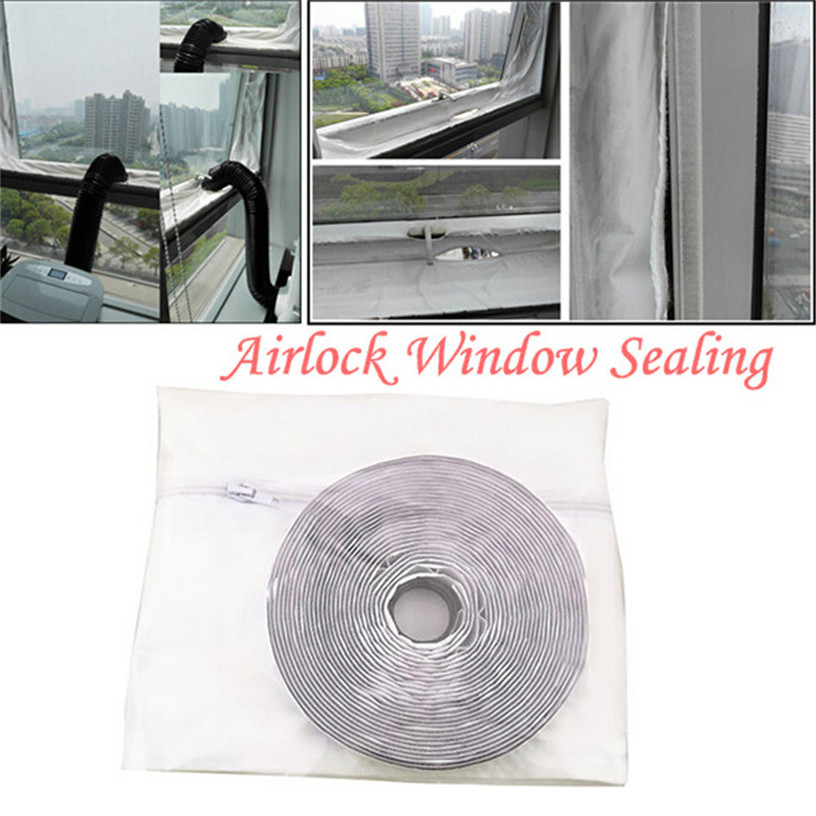 3 Meters Mobile air Conditioner Soft Cloth Sealing Baffle for Home Air Conditioning Cover Air Lock Window Seal Cloth 0711#