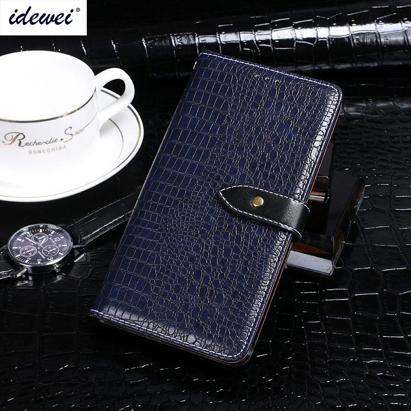 Fly IQ4415 Case Cover Luxury Leather Flip Case For Fly IQ4415 Era Style 3 Protective Phone Case Crocodile Grain Back Cover 4.5