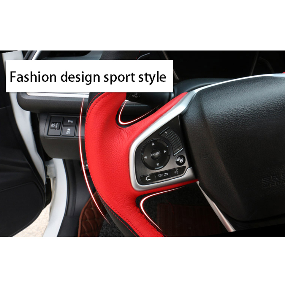 Pilot Automotive Accessory SW-121 Genuine Leather Steering Wheel Cover Ford Logo