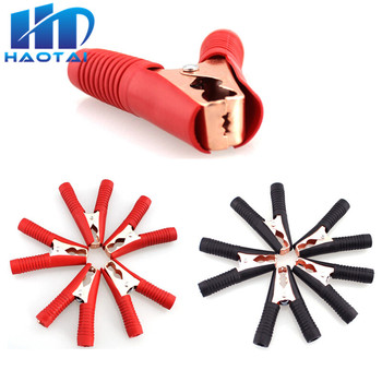 Hot Car Alligator Clips Battery Clamps Crocodile Clip 100A Red+Black for Auto Battrey Charger Charging Connect Connector Socket image