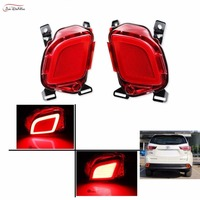 JanDeNing 2PCS LED Rear Bumper Brake Lights Turn Signal Light DRL For Toyota Highlander 2015 2017