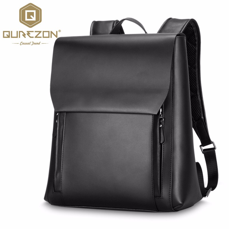 13.4 inch laptop backpack black Genuine leather Backpacks For Men school bag Rucksack High Quality Men's Backpack male mochila