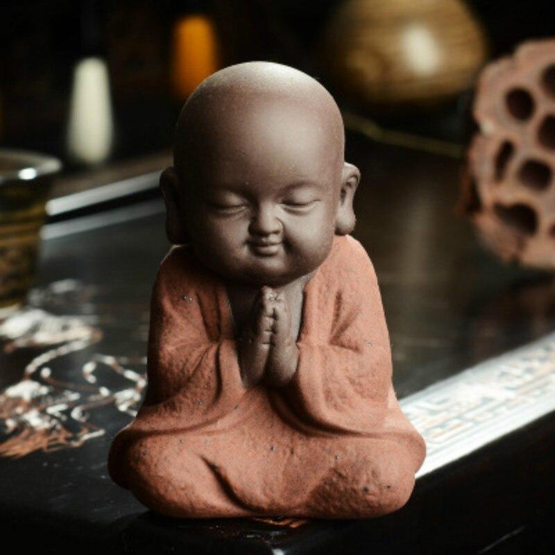 Little Buddhist Monk Ceramic Figurine 4