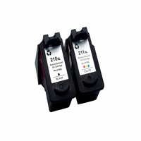 CK 1 Set Compatible Ink Cartridge For PG210 CL211 CL 211 For Canon MP240 MP250 MP270