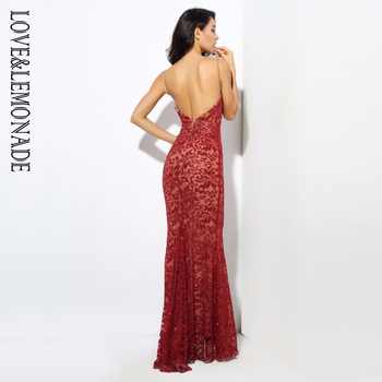 Love&Lemonade . Deep V Neck Open Back Flower Ribs Long Dresses Red/Silver/Gold/Navy LM0301 Autumn/Winter