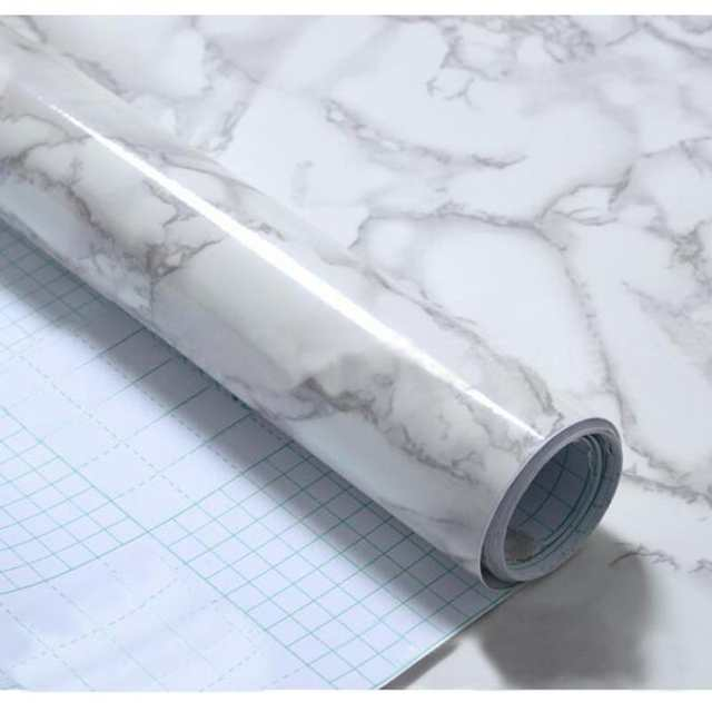 60X50cm Granite Marble Effect Waterproof Thick PVC wall paper Self Adhesive  Peel Stick Rolling Paper