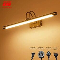 Nowe lustrzane w stylu retro światło brązu kinkiet wodoodporna lampa ścienna do domu lusterko łazienkowe z oświetleniem led lampa regulowana lampka nad lustro ZJQ0002 w Wewnętrzne kinkiety LED od Lampy i oświetlenie na