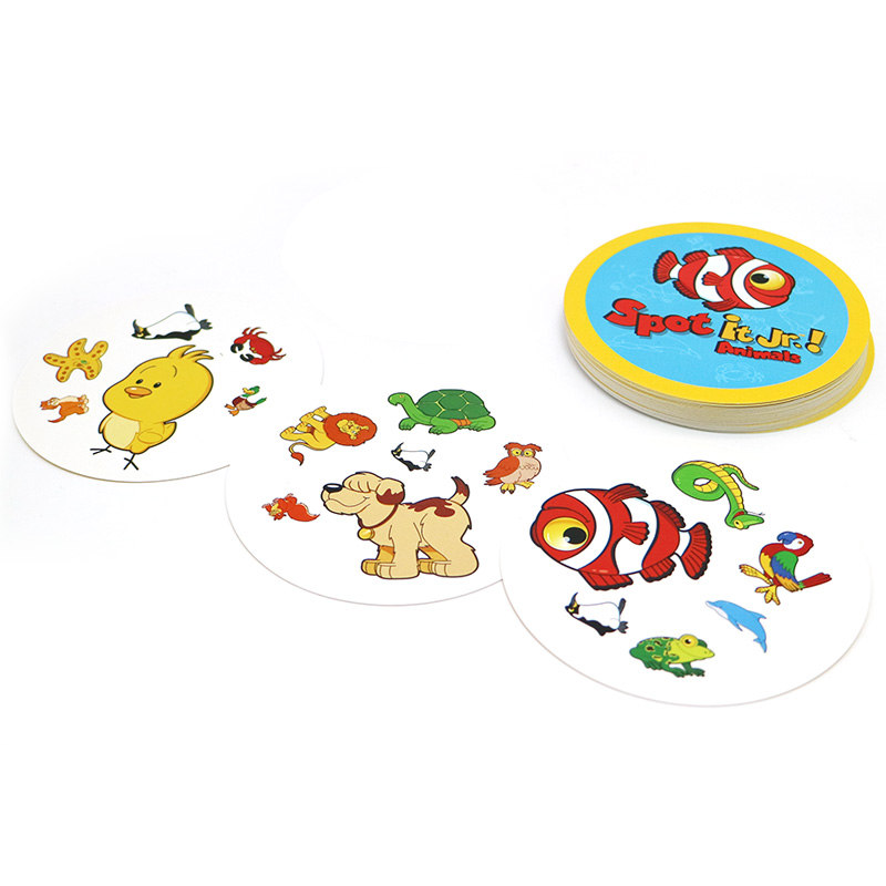 2018 new spot it kids game with English rules high quality paper it for family activities game cards game