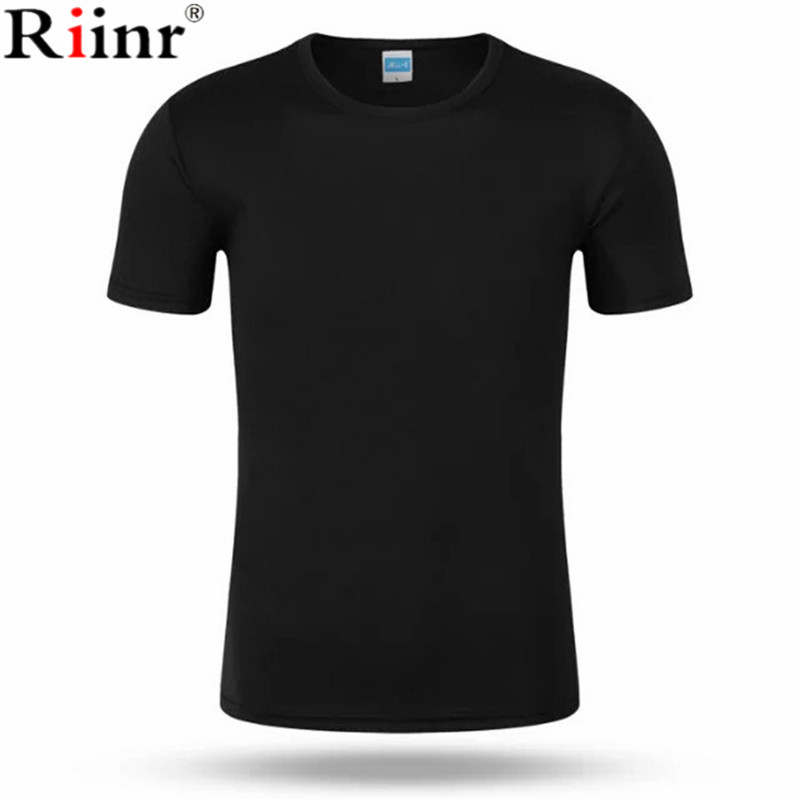 Riinr Solid color 100% Cotton T Shirt Mens Black White T-shirts 2018 Summer Skateboard Tee Boy Hip hop Skate Tshirt Tops