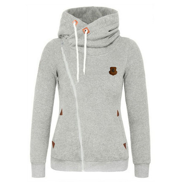 2017 Hoodie women Sweatshirt Turn-down Collar Cardigans Tracksuit bomber jacket women basic coats