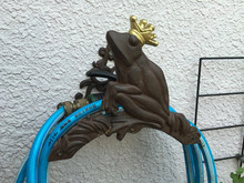 Vintage Cast Iron Wall Mounted Hose Holder, Frog Hanger Rustic Home Garden Decor Metal Outdoor Supplies Fast Free Shipping