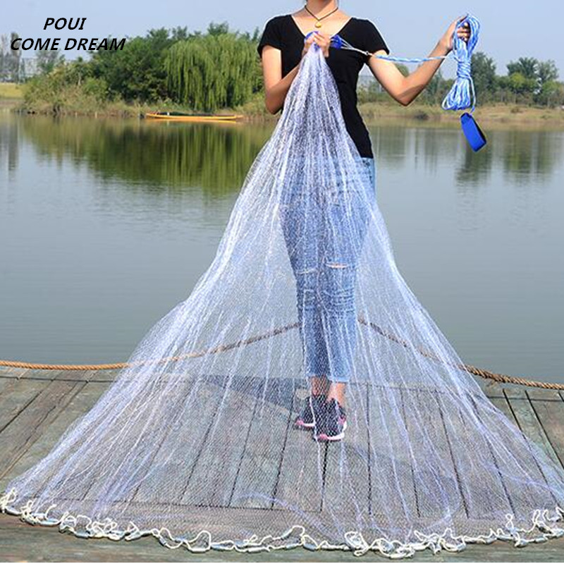 цена на usa style cast net hand throw net fish trap fishing net china fishing network potes rede de pesca Fishing supplies outdoor tool