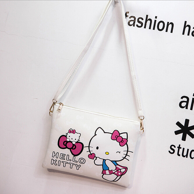 Mujeres Bolsa de mensajero Mickey Minnie bolso de Hello Kitty bolso de embrague