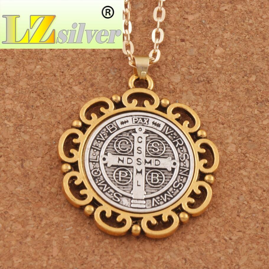 Квітка Святого Бенедикта Медаль - Модні прикраси - фото 2