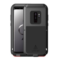 LOVE MEI Phone Case For Samsung Galaxy S9 S8 Plus S7 S6 Edge Shockproof Heavy Duty Powerful Aluminum Glass Metal Armor Cover