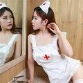 Sexy enfermeira traje Cosplay vestido sem encosto adulto fantasia Babydoll roupa interior para senhoras Sexy roupa de dormir uniformes de enfermeira mulheres menina