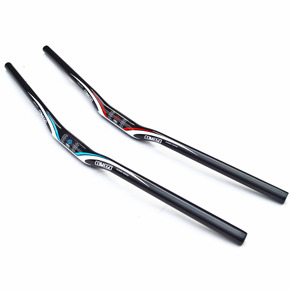 t700 carbon fiber mountain bike handlebar bicycle parts 3k finish 31.8 640 - 720/740/760mm mtb riser bars 3k finish bar