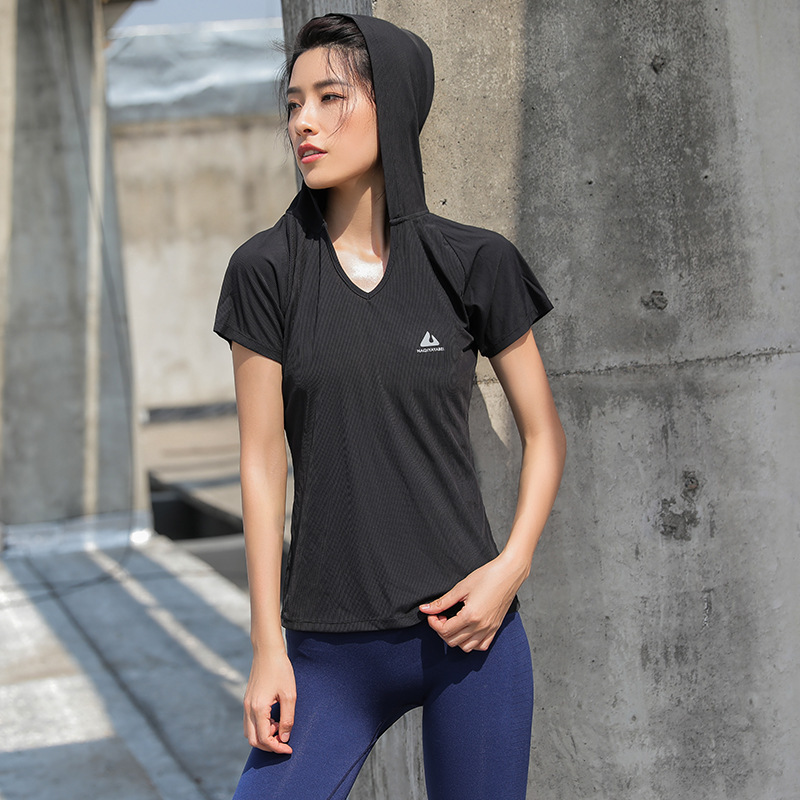 2018 Спортивная футболка для Для женщин тренажерный зал Фитнес футболки Йога, дышащая эластичная быстросохнущая Йога бег топы упражнения