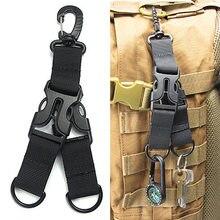 Нейлоновый тканевый зажим для рюкзака, лента для кемпинга, крепится на ремень, набор зажимов, карабин, ремень, застежка, D, безопасная Пряжка для скалолазания