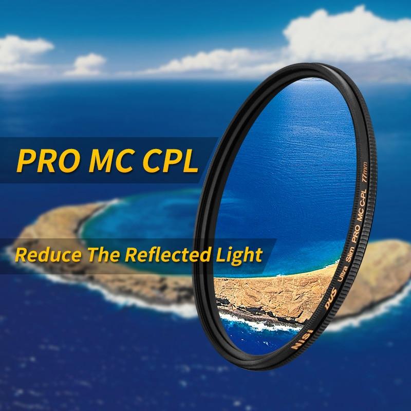 Nisi mc cpl 95mm 82mm 77mm 72mm 67mm 62 58 55 52mm ultra-thin multi-layer coating circular polarized Filter professional grade nisi 55mm mc uv ultra violet ultra thin double sided multilayer coating lens filter protector