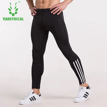 Vansydical 2017 Running Tights Men Compression Sports Leggings Fitness Men Running Tights Gym Clothing Training Sportswear