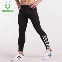 Vansydical 2017 Running Tights Men Compression Sports Leggings Fitness Men Running Tights Gym Clothing Training Sportswear