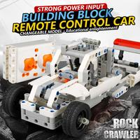 224PCS DIY Kit R/C 10 in 1 Race Cars Building Bricks Radio Control Racing Toy For Remote Controls toys 2sw0820