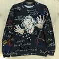 2016 Nuevas sudaderas con capucha hombre Gráfico de ciencias Matemáticas 3d hombres/mujeres divertidas imprimir Einstein sudadera tops casual