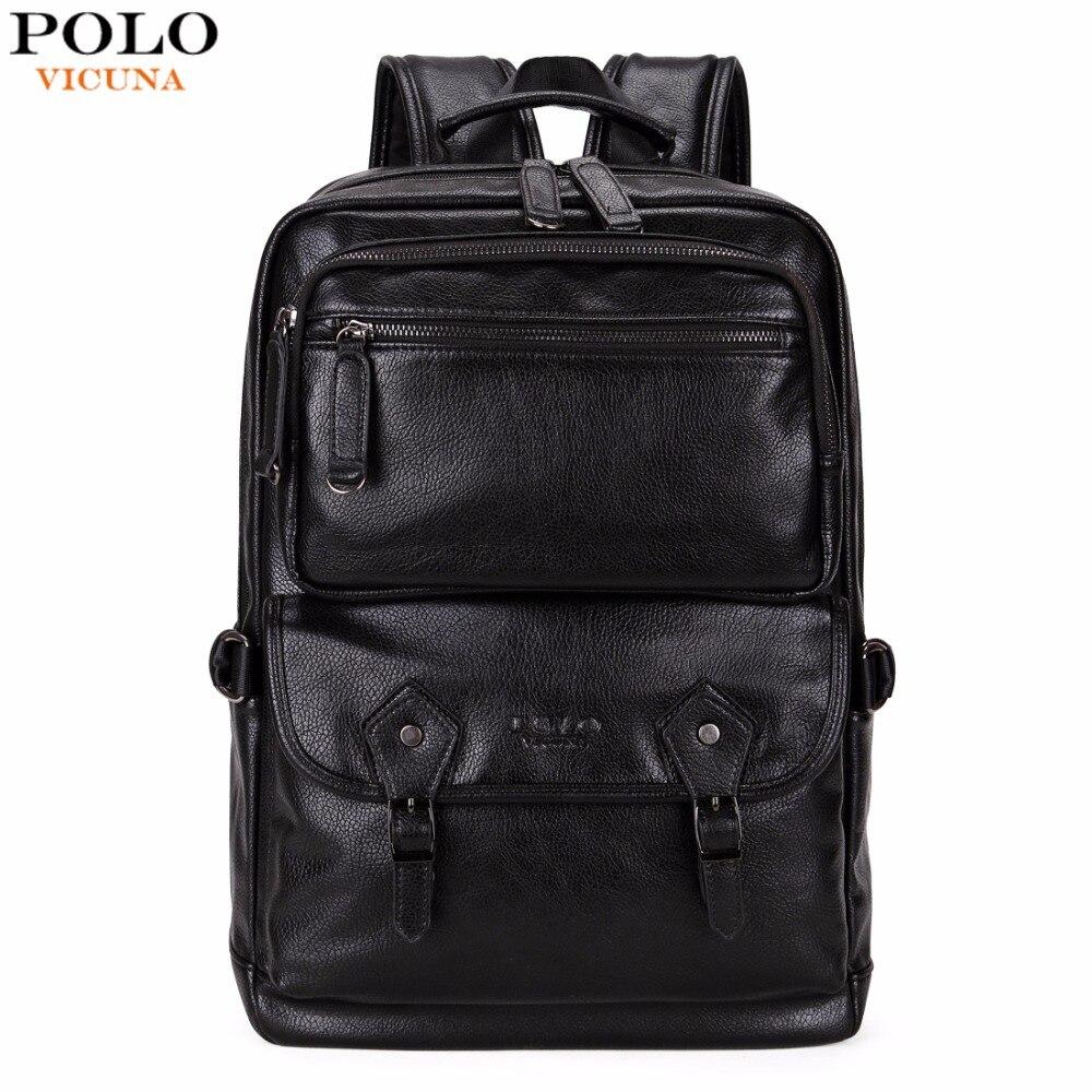 Викуньи поло многофункциональный кожаный Для мужчин рюкзак бренд высокое качество большой Для мужчин кожаный рюкзак для путешествий Бизне...