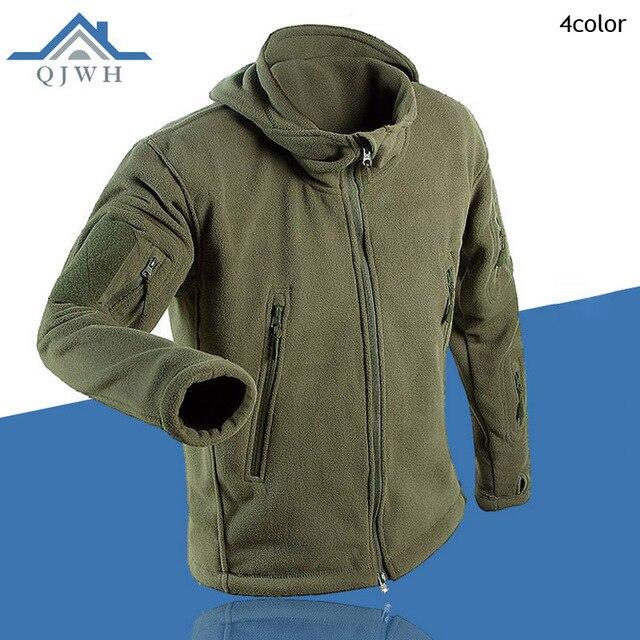 Winter 2016 Outdoors Tactical Cargo Zipper Pocket Sharkskin Soft Shell Warm Thelmal TAD Fleece Hoodies Cargi Army Jacket Men