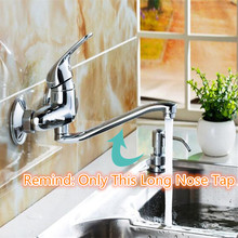 Shower-Faucets Outlet Tap Bathroom Nozzle Stainless-Steel Nose Long 360-Rotate Taps-Accessories