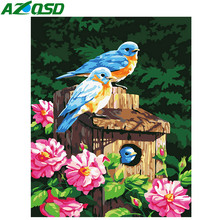 AZQSD Painting By Numbers Animals Kits Abstract Number DIY Oil Painting Fantastic Drawing Pictures On Canvas Room Decor(China)