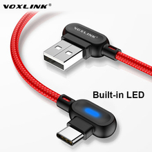 VOXLINK USB Type C 90 Degree Fast Charging usb c cable Type-c data Cord Charger usb-c For Samsung S8 S9 Note 9 8 Xiaomi mi8 mi6 voxlink usb type c 90 degree fast charging usb c cable type c data cord charger usb c for samsung s8 s9 note 9 8 xiaomi mi8 mi6