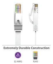 6PacK Flat Internet Network Cable Cat6 Computer Cable short Cat6 Ethernet Patch Lan Cable With Snagless Rj45 Connectors 1 Feet цены