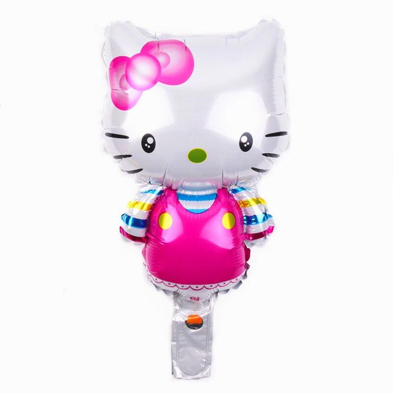 TSZWJ B 098 Free Shipping Hot Cartoon Kitty Aluminum Balloon Ball Birthday Party Decorative font b