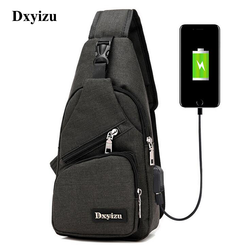 DINGXINYIZU Oxford Men Chest Single Shoulder Strap