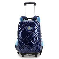 Good Quality Kids Backpack Boys Multifunctional Kids School Bags With Wheel Reflective Strip Trolley Luggage For