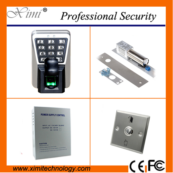 Free shipping fingerprint accescontrol system tcp/ip IP65 waterproofed 3000 fingerprint user smart biometric door lock