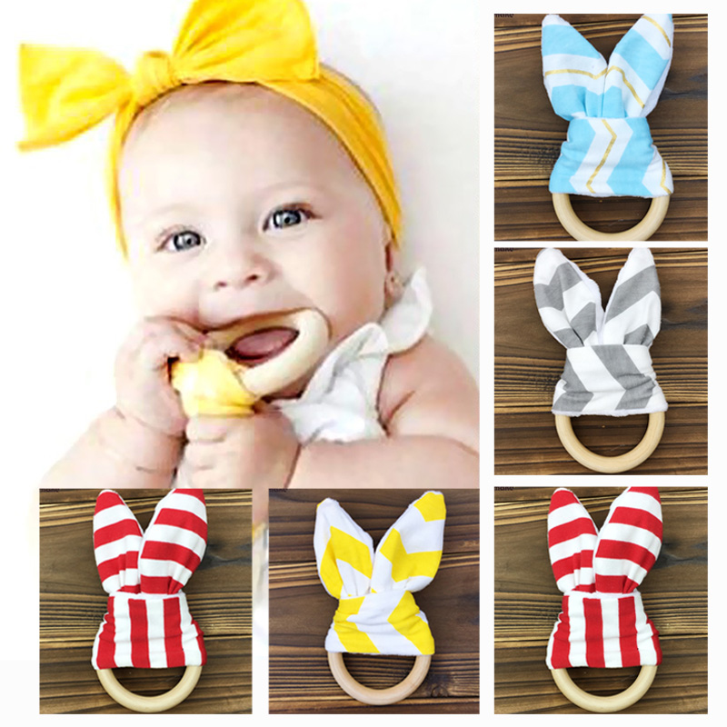 Let's Make 20pc Montessori Natural Wood Teething Ring/Cotton Front/Organic Cotton Fleece Back Lets Make