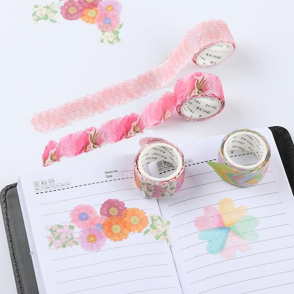 Masking Tape Cherry Petals Washi Tape Diary Sticker DIY Scrapbooking Decor
