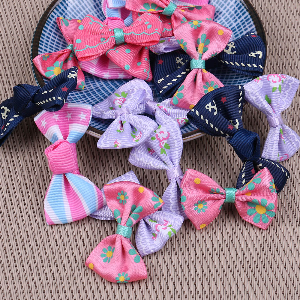 100pcs Handmade Bow tie applique Satin Ribbon For Wedding Party Decoration  Ribbons DIY Crafts Webbing Card 5a0de6bed3cc