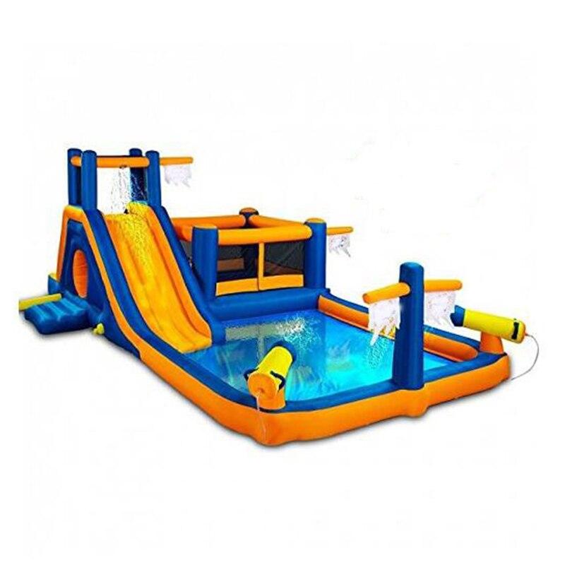 Piscine gonflable gonflable gonflable de château de glissière de videur de glissière d'eau de parc d'attractions de houblon heureux pour des enfants