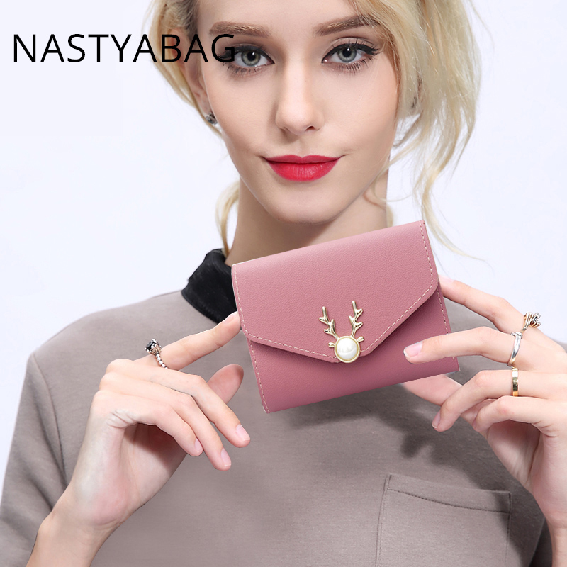 Fashion Wallet Small Women Brand Purse Women Leather Wallets Mini Ladies Clutch Money Clip Girls Cute Wallet Bags For Women 2018 ricom вешалка для одежды ricom а2501 mpftwqd