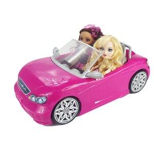 Image 5 - Voiture pour poupée Barbie 2 places, Convertible rose, accessoire, jouet classique, cadeau pour filles et enfants, non alimenté par batterie, 1/6