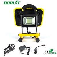 BORUiT 10W 20 LED Solar Spot Light Rechargeable Spotlight Outdoor Garden Waterproof Spot Lamp Solar USB Power Bank