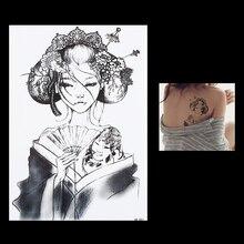 1pc Tattoo Sticker Flower Arm Back Waterproof Tattoo HB083 Women Body Art Temporary Traditional Belle Tattoo Sticker Design