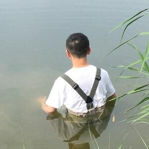 Image 5 - Fly wodery wędkarskie odzież przenośne kombinezony w klatce piersiowej wodoodporne ubrania spodnie brodzące Stocking Foot dobre jak Daiwa na buty rybne