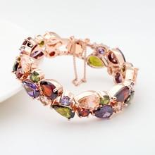 Mona Lisa Multi-color Crystal Glass Bracelet