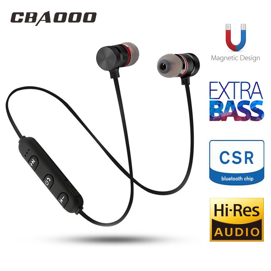 CBAOOO C40 Bluetooth Earphone Headphone Wireless Headphone Neckband Sport Headset Auriculare CSR Bluetooth For All Phone