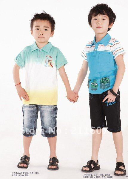 050ba24d091d turn down collar boys shirt baby summer shirt baby wear
